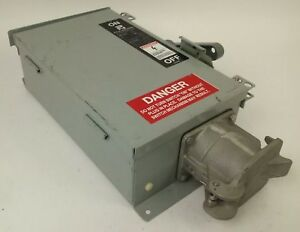 Pyle National Wfrs 6036 Safety Switch 3p 60a 600v 50hp Type 3r 12 Rainproof