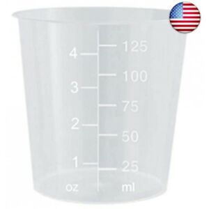 4oz Graduated Transparent Polypropylene Plastic Cups For Mixing Epoxy Resin