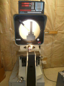 Deltronic Dh214 Optical Comparator With Deltronic Mpc5 Dro Electronic Protracr