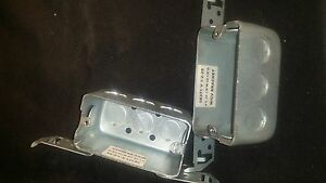 pack Of 50 Single Gang Metal Electrical Outlet Box W Bracket