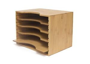Lipper International 811 Bamboo Wood File Organizer With 4 Dividers 12 3 4