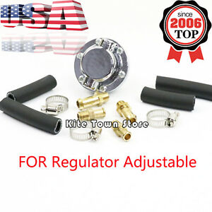 Universal New Manual Fuel Pressure Regulator Adjustable For Carburetor Engine Us