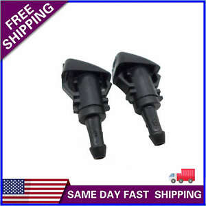 2pcs Windshield Washer Water Nozzle Spray Fits Chrysler Dodge Ram Dorman 47186