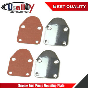 Suit Sbc 283 305 327 350 383 400 Sb Chevy Chrome Fuel Pump Mounting Plate