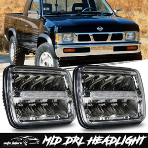 2pcs 5x7 7x6 Inch Led Headlights Hi Lo Beam Drl For Nissan Pickup Hardbody