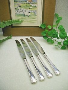 4 Oneida Silver 1881 Rogers Del Mar Silverplate Hh Dinner Knives 1939 Free Ship
