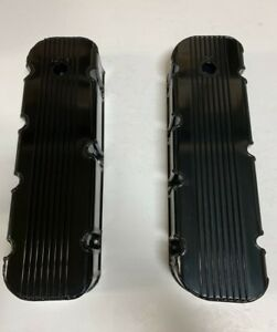 Big Block Chevy 427 454 496 Fabricated Tall Valve Covers Black Bbc