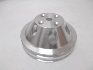 Brand New Aluminum Small Block Chevy 2 Groove Long Water Pump Pulley Sbc Lwp