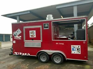 2017 8 X 16 Bbq Concession Trailer With Porch For Sale In Texas