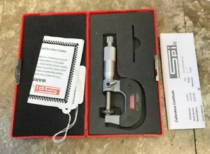 Used Spi 0 1 0 0001 Blade Micrometer With Case