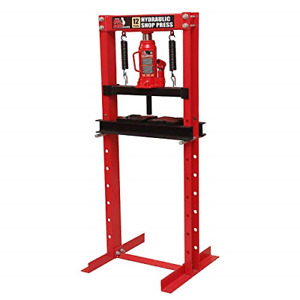 Torin Big Red T51201 Steel Frame Hydraulic Shop Press 12 Ton Capacity