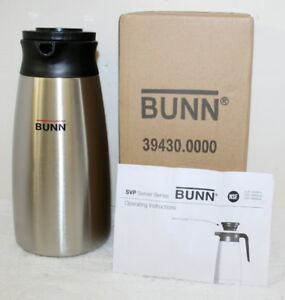 Bunn Commercial Svp 1900a n Brew Thru Thermal Carafe Box New 1 9l 39430 0000