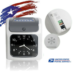 Us Office Device Electronic Time Clock Card Machine Employee Work Hours Recorder