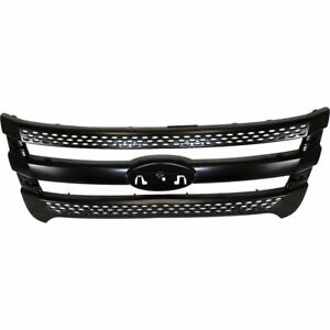 For 2011 2012 2013 2014 2015 Ford Explorer Front Grille Painted black