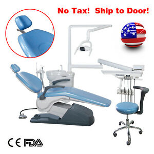 Dental Chair Unit Computer Control Exam Operatory Hard Leather Dc Motor