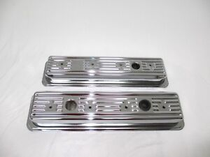 Chrome Center Bolt Valve Covers For Small Block Chevy 5 0 And 5 7