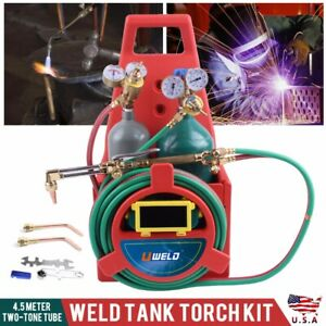 Portable Oxygen Acetylene Oxy Victor Type Welding Cutting Weld Tank Torch Kit
