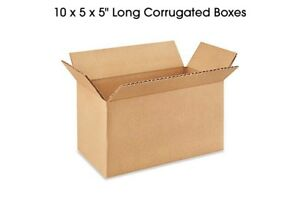 10 X 5 X 5 Long Corrugated Boxes 200lb Test Fast Shipping