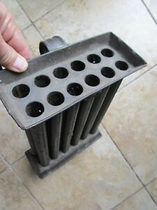 Nice Early C1780 Antique Colonial 12 Tube Tin Candle Mold Handmade Hearthware