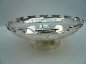 Silver Fruit Bowl Sterling Antique English Tableware Hallmarked 1915