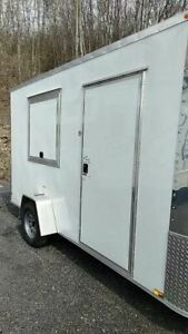 2017 Arising Industries 7 X 12 Mobile Food Unit Food Concession Trailer For