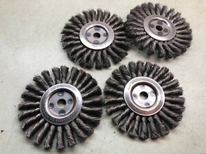Osborn 6 Knotted Wire Wheel Brushes 9000 Heavy Duty Lot Of 4