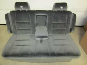 95 18 Chevy Express gmc Savanna Van Dark Gray Cloth Conversion Van Dual Arm Sofa