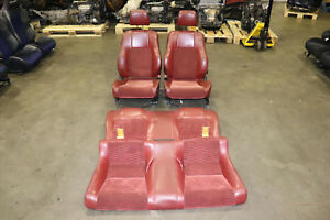 Jdm 97 01 Honda Prelude Type S Red Leather Cloth Front Rear Seats Bb6 Bb7 Bb8