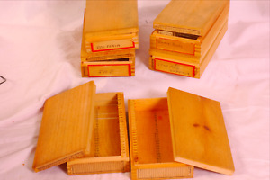 Microscope Slides With Samples On Also Empty Boxes For Storage Vgc