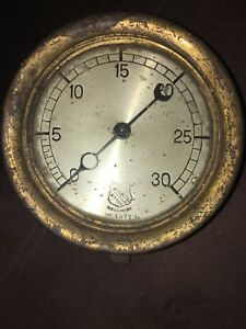 Ashcroft Mfg Co New York Brass Pressure Gauge