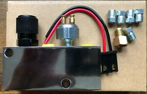 Adjustable Chrome Proportioning Valve With Fittings And Brake Light Switch Wires