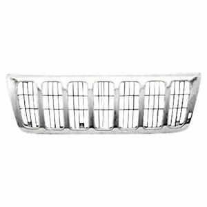 For 1999 2003 Jeep Grand Cherokee Laredo Front Grille Laredo Model Chrome