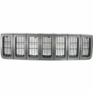 For 1996 1997 1998 Jeep Grand Cherokee Laredo Grille Argent Black