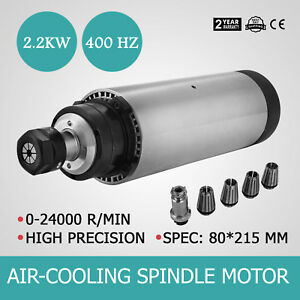 2 2kw Er20 Air Cooled Spindle Motor Mill Grind High Speed Engraver Us Stock