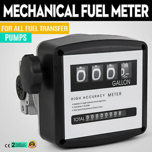 1 Mechanical Fuel Meter For All Fuel Transfer Pumps 5 30 Gpm Fm 120 2 Black