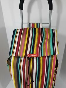 Typhoon Foldable Shopping Tote Grocery Cart Portable Basket Travel Rolling Wheel