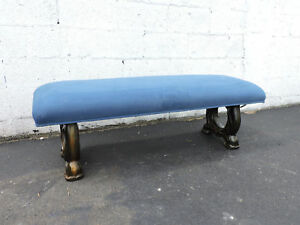 Long Vintage Upholstered Vanity Bed End Hallway Bench By Archlace 6815