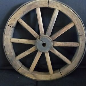 Antique Wagon Iron Wrap Cart Wood 10 Spoke 16 Pioneer Wheel