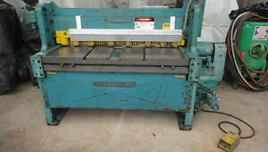 Wysong Power Shear 12 Gage 52 Inch Excellent See Video Of Machine Working