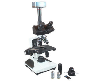Quality Trinocular Microscope Phase Contrast 3mp Camera Win Mac Measure Software