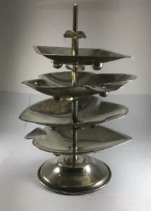 Vintage Sterling Silver Playing Card Suited Cigar Rest Ashtray Set