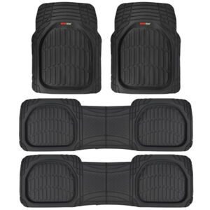 Motor Trend Flextough Deep Dish Heavy Duty Rubber Car Floor Mats 4 Pc