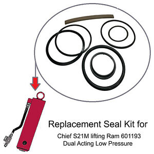 Replacement Chief S21m Frame Machine Lift Ram Seal Kit Dual Acting