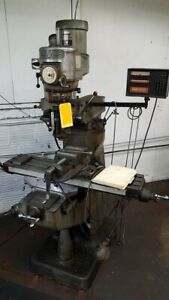 Bridgeport Milling Machine 1 1 2 Hp 9 x36 Table
