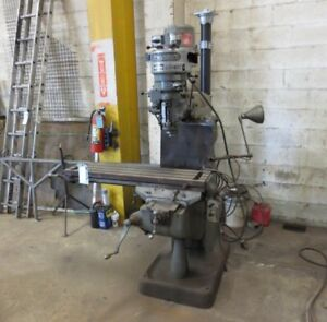 Bridgeport Milling Machine 9 x 42 Table Power Cross Feed