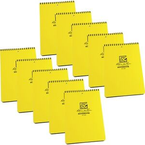 Rite In The Rain 169 All weather 6 inch By 9 inch Top Spiral Notebook 10 pack