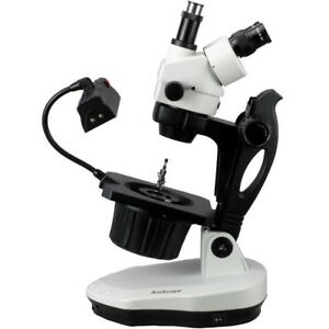 Amscope 7x 90x Advanced Jewel Gem Stereo Zoom Microscope