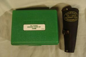 2 Greenlee Ball Bearing Knockout Punch Sets With Cases 737bb