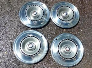 1968 Buick Lesabre Special Wildcat Riviera Hubcaps Wheel Covers Good Set Of 4
