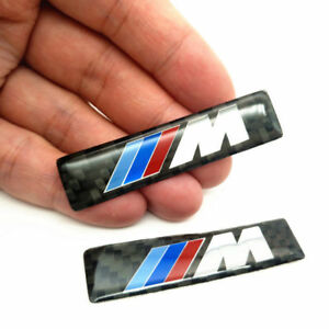 2pcs M Performance Carbon Fiber Sticker For Bmw Big Emblem For E46 E60 E90 M3 M5